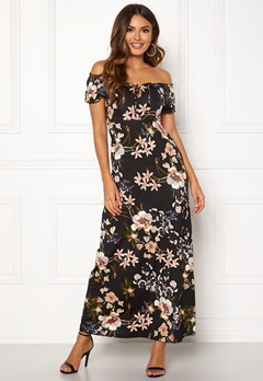 Happy Holly Tessie maxi dress Black / Patterned Bubbleroom.eu