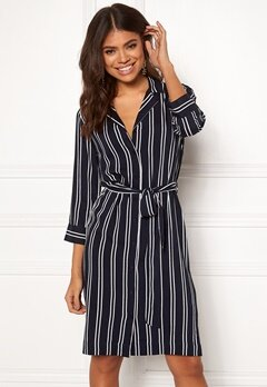 Happy Holly Thea shirt dress Striped Bubbleroom.eu
