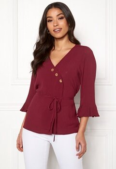 Happy Holly Tilly blouse Brick-red Bubbleroom.eu
