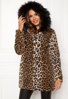 Happy Holly Trinny faux fur coat Leopard Bubbleroom.eu