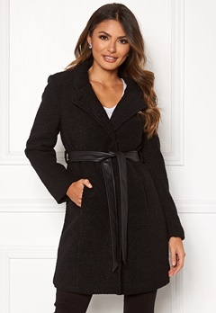 Happy Holly Tuva wool coat Black Bubbleroom.eu