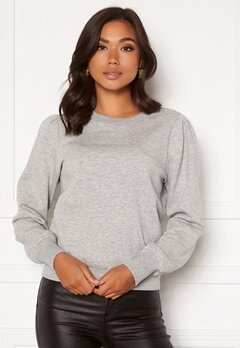 Happy Holly Veronica puff top Light grey melange Bubbleroom.eu