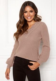 Happy Holly Wendy lace sweater Dusty pink Bubbleroom.eu