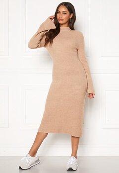Happy Holly Winnie sweater dress Beige melange Bubbleroom.eu