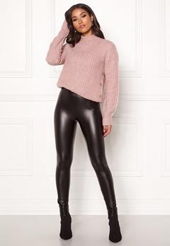 Happy Holly Andrea coated leggings Black Bubbleroom.eu