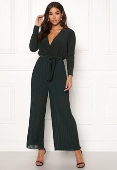 Happy Holly Bianca pleated jumpsuit Dark green Bubbleroom.eu
