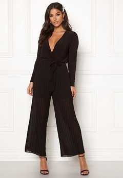 Happy Holly Bianca pleated jumpsuit Black Bubbleroom.eu