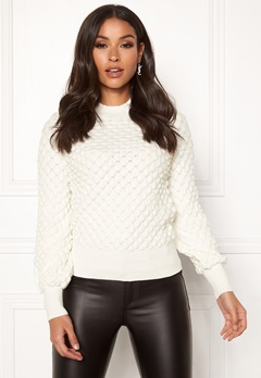 Happy Holly Mathilda bubble sweater Offwhite Bubbleroom.eu