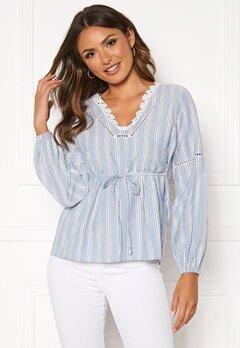 Happy Holly Sanna blouse Blue / Striped Bubbleroom.eu