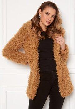 Happy Holly Jenny fur coat Camel Bubbleroom.eu
