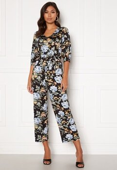 Happy Holly Tova puff v-neck jumpsuit Floral Bubbleroom.eu
