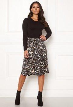 Happy Holly Susanna 2in1 dress Black / Leopard Bubbleroom.eu