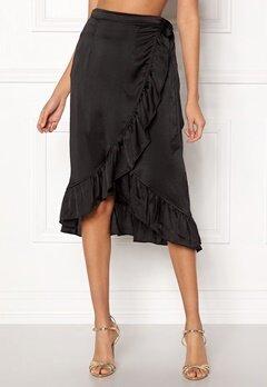 VERO MODA Henna Shine Wrap Skirt Black Bubbleroom.eu