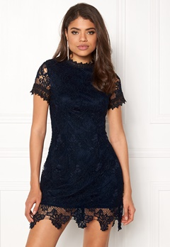 AX Paris High Neck Lace Dress Navy Bubbleroom.eu