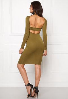 Club L High Neck Open Back Olive Bubbleroom.eu