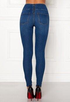 Pieces Highwaist Skinny Jeggings Medium Blue Denim Bubbleroom.eu