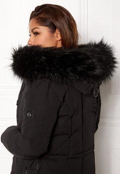 Hollies Collar Fake Fur Black Bubbleroom.eu