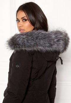 Hollies Collar Fake Fur Silver Bubbleroom.eu