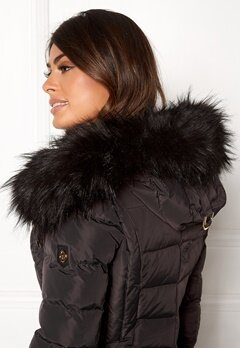 Hollies Collar Hoodedge Fake Fur Blk Bubbleroom.eu