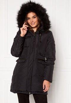 Hollies Livigno Long Coat Black/Black Bubbleroom.eu