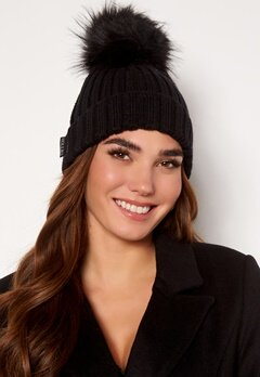 Hollies PomPom Classic Hat Black/Black Bubbleroom.eu