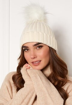 Hollies PomPom Classic Hat White/White Bubbleroom.eu