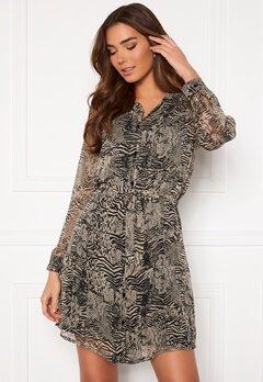 ICHI Assip Dress Oxford Tan Bubbleroom.eu