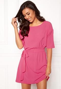 ICHI Asti Dress 16669 Shocking Pink Bubbleroom.eu