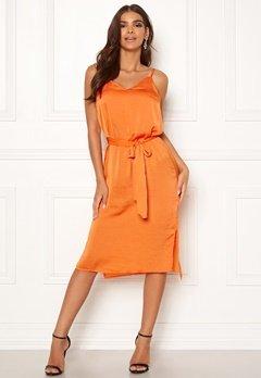 ICHI Crissy Dress 17667 Russet Orange Bubbleroom.eu