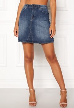ICHI Gezar Skirt 19058 Mid Blue Bubbleroom.eu