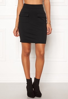 ICHI Kate Pocket Skirt Black Bubbleroom.eu