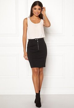 ICHI Kate Slim Skirt Black Bubbleroom.eu