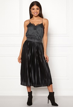 ICHI Pleat Skirt Black Bubbleroom.eu