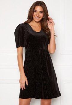 ICHI Rihanna Velvet Glitter Dress Black Bubbleroom.eu