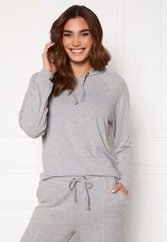 ICHI Yose LS Hoodie T-Shirt Grey Melange Bubbleroom.eu