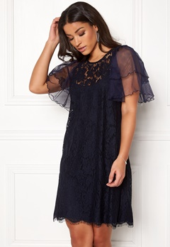 Ida Sjöstedt Anna Dress Navy Bubbleroom.eu