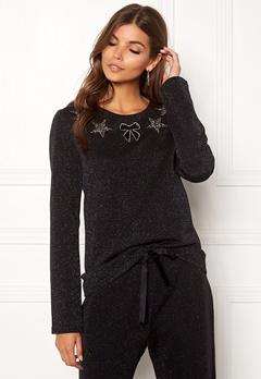 Ida Sjöstedt Magic Sweater Lurex Knit Black Bubbleroom.eu