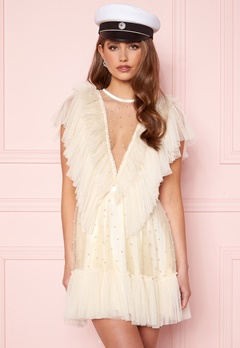 Ida Sjöstedt Nathalie Dress Beaded Tulle Cream Bubbleroom.eu