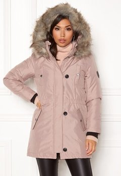 ONLY Iris Fur Parka Rose dust Bubbleroom.eu