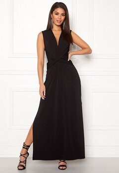 Ivyrevel Drape Front Slit Dress Black Bubbleroom.eu