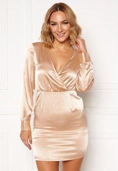 Ivyrevel V Neck Drapy Dress Gold Bubbleroom.eu