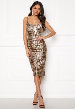 Ivyrevel Velvet Bodycon Dress Black/Brown Leopard Bubbleroom.eu