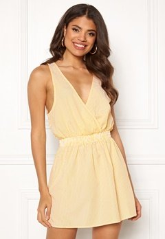 Ivyrevel Wrap Mini Dress Yellow Stripe Bubbleroom.eu