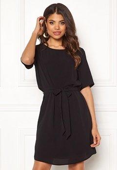 Jacqueline de Yong Amanda 2/4 Belt Dress Black Bubbleroom.eu