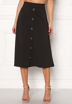 Jacqueline de Yong Bellis Button Skirt Black Bubbleroom.eu