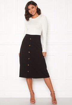 Jacqueline de Yong Bellis Button Skirt Black/Dark wood butt Bubbleroom.eu