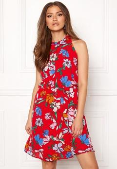 Jacqueline de Yong Chili S/L Dress High Risk Red Bubbleroom.eu