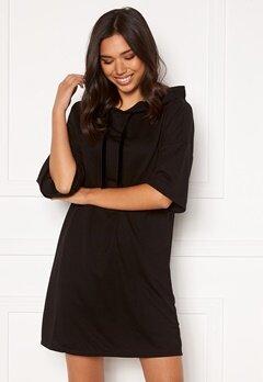 Jacqueline de Yong Dawn 3/4 Hood Sweat Dress Black Bubbleroom.eu