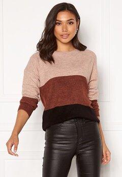 Jacqueline de Yong Elanora L/S Stripe Pullover Black Colorblock Bubbleroom.eu