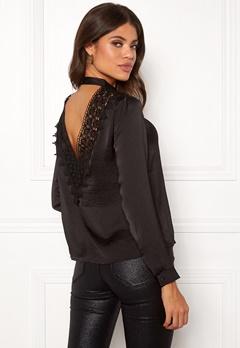 Jacqueline de Yong Fibola L/S Lace Top Black Bubbleroom.eu